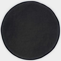 Tapis rond (0) 90 cm velours uni kendo Noir/Noir