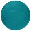 Tapis rond (0) 90 cm velours uni louna Bleu lagon, image n° 1