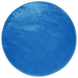 Tapis rond (0) 90 cm velours uni louna Indigo