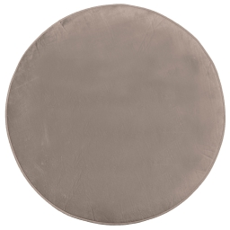 Tapis rond (0) 90 cm velours uni louna Lin