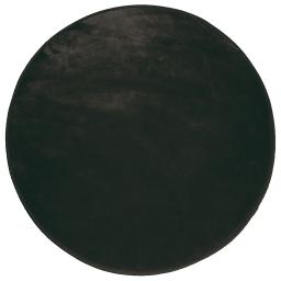 Tapis rond (0) 90 cm velours uni louna Noir