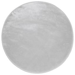 Tapis rond (0) 90 cm velours uni louna Perle