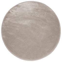 Tapis rond (0) 90 cm velours uni louna Taupe