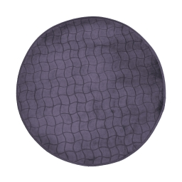 Tapis rond (0) 90 cm velours uni tomette Anthracite