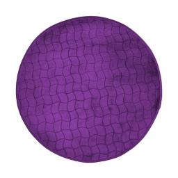 Tapis rond (0) 90 cm velours uni tomette Prune