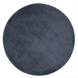 Tapis rond (0) 90 cm velours uni zigga Anthracite