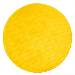 Tapis rond (0) 90 cm velours uni zigga Moutarde