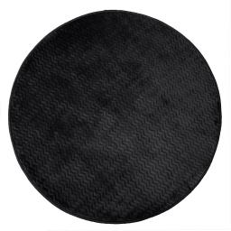 Tapis rond (0) 90 cm velours uni zigga Noir