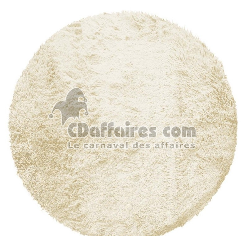 tapis rond 90 cm imitation fourrure marmotte naturel ebay. Black Bedroom Furniture Sets. Home Design Ideas