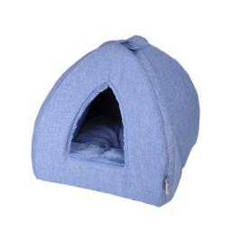 tente pour chat newton 35*35*38cm bleu