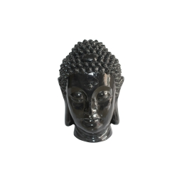 tete bouddha magnesie 23.5*22.5*h34cm noir