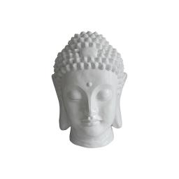 tete bouddha magnesie 32*31*h42.5cm blanc