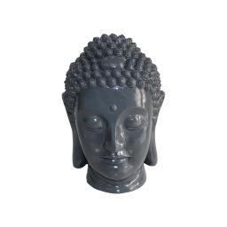 tete bouddha magnesie 32*31*h42.5cm gris