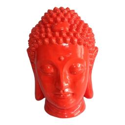 tete bouddha magnesie 35*34*h52cm rouge