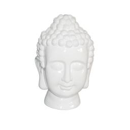 tete de bouddha ceramique 20*20*h31cm blanc