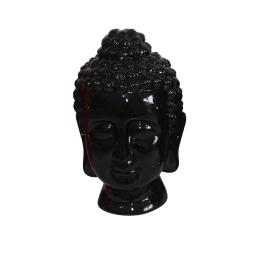 tete de bouddha ceramique 20*20*h31cm noir