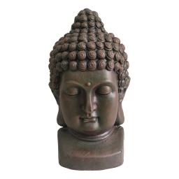 tete de bouddha magnesie 28*29*h50cm chocolat