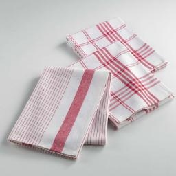 Torchons /3 50 x 70 cm coton tisse pratico Rouge