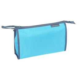 Trousse de toilette unie e en microfibre l29.5cm douceur d'int vitamine Bleu