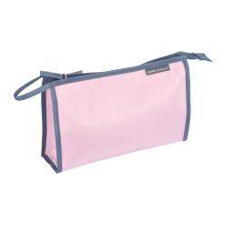 Trousse de toilette unie rose poudré microfibre l29.5cm douceur d'int vitamine Rose poudre