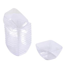 """verrine """"mini aperitif"""" cube - 4.5cl x25 en ps transparent"""