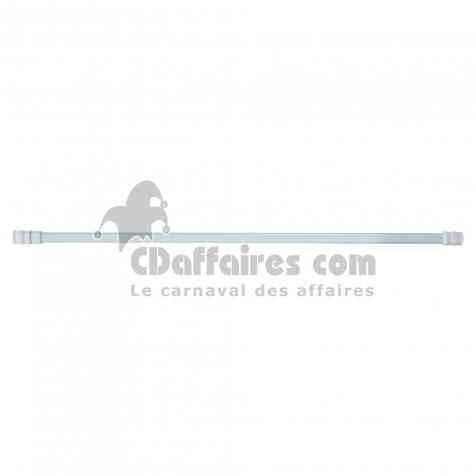 Vitrage ovale extensible 13mm 40 < 60 cm metal vo13 Blanc