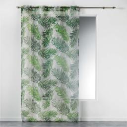Voilage a oeillets 140 x 240 cm imprime green paradise