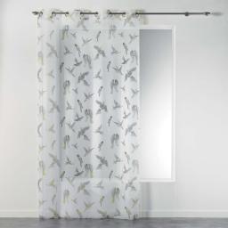 Voilage a oeillets 140 x 240 cm voile imprime transfert envolee chic Jaune