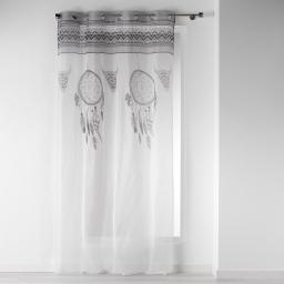 Voilage à oeillets 140 x 240 cm voile imprimé transfert idaho