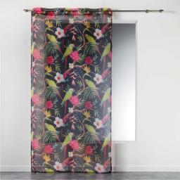 Voilage a oeillets 140 x 240 cm voile imprime transfert toucana Prune