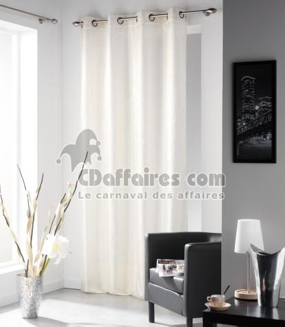 voilage campus froiss 140x240 cm cru. Black Bedroom Furniture Sets. Home Design Ideas