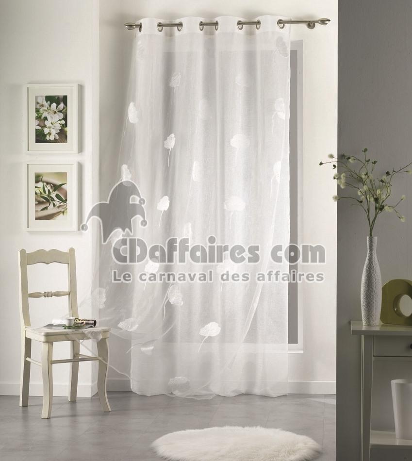 rideaux rideau brod s voilages voilage brod brise bise. Black Bedroom Furniture Sets. Home Design Ideas