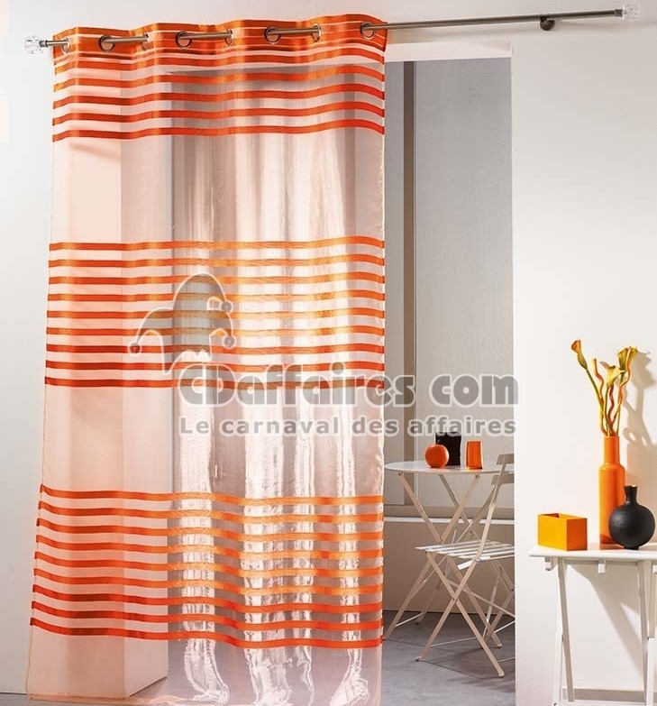 voilage organza et taffetas 140x240 cm fresh orange ebay. Black Bedroom Furniture Sets. Home Design Ideas