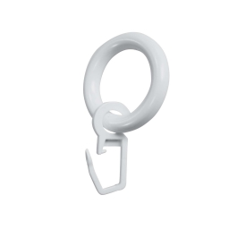 10 anneaux plastique bistrot 12mm polypropylene ab12 Blanc