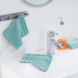 2 gants de toilette 15 x 21 cm eponge unie vitamine Menthe