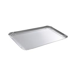 3 plateaux carton rectangle  - 600g/m² - argent