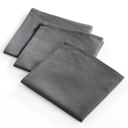 3 serviettes 40x40 coton uni cafe des arts Anthracite