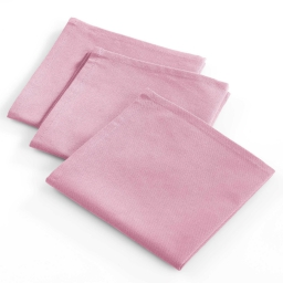 3 serviettes 40x40 coton uni coeur tendre Rose
