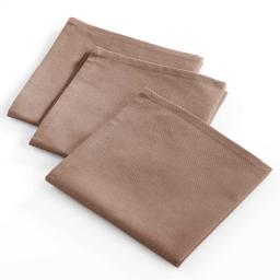 3 serviettes 40x40 coton uni menu resto Taupe
