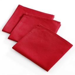 3 serviettes 40x40 coton uni saliere Rouge