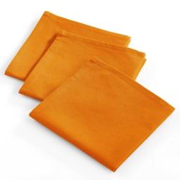 3 serviettes 40x40 coton uni tomato Orange