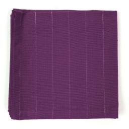 3 serviettes de table 40 x 40 cm coton tisse lulu word Prune