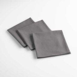 3 serviettes de table 40 x 40 cm coton uni aubeline Anthracite