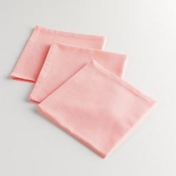 3 serviettes de table 40 x 40 cm coton uni delicia Rose