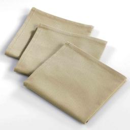 3 serviettes de table 40 x 40 cm coton uni ideale Lin