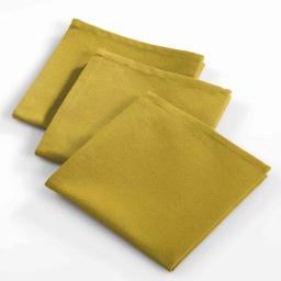 3 serviettes de table 40 x 40 cm coton uni ideale Miel