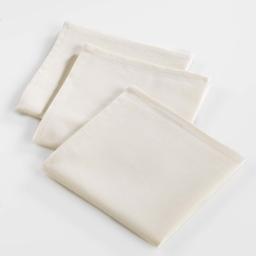 3 serviettes de table 40 x 40 cm coton uni ideale Naturel