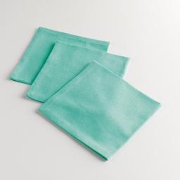 3 serviettes de table 40 x 40 cm coton uni miami Menthe
