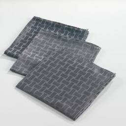 3 serviettes de table 40 x 40 cm jacquard damasse maillon Anthracite