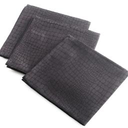 3 serviettes de table 40 x 40 cm jacquard damasse serpentile Noir